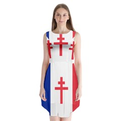 Flag of Free France (1940-1944) Sleeveless Chiffon Dress