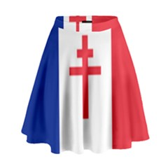 Flag Of Free France (1940 1944) High Waist Skirt