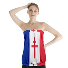 Flag of Free France (1940-1944) Strapless Top