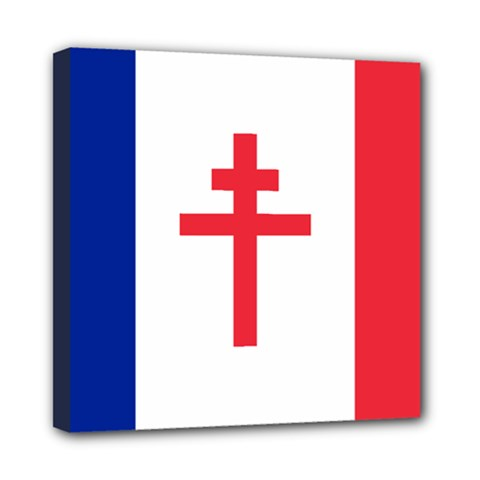 Flag Of Free France (1940 1944) Mini Canvas 8  X 8