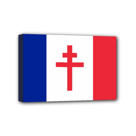 Flag Of Free France (1940 1944) Mini Canvas 6  X 4