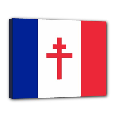 Flag of Free France (1940-1944) Canvas 14  x 11