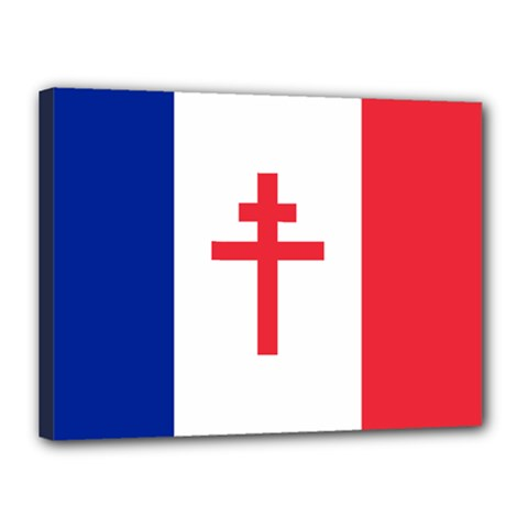 Flag Of Free France (1940 1944) Canvas 16  X 12