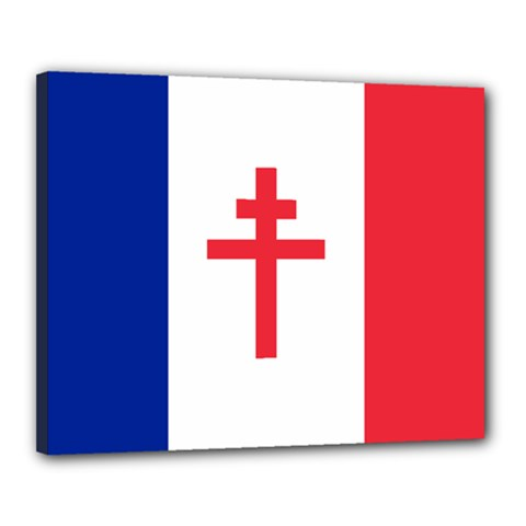 Flag Of Free France (1940 1944) Canvas 20  X 16
