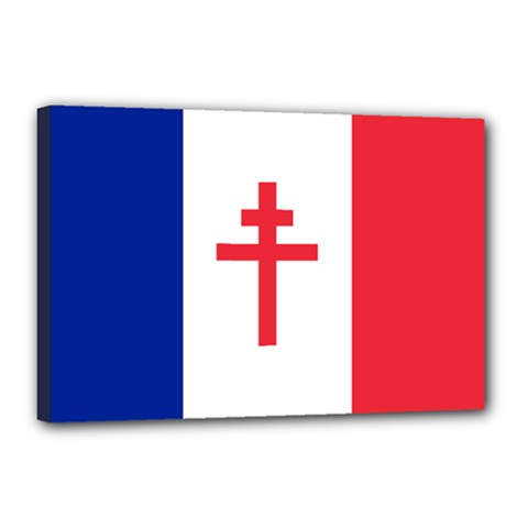 Flag Of Free France (1940 1944) Canvas 18  X 12