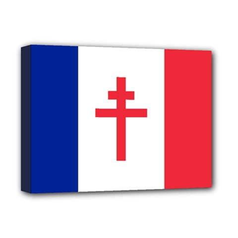 Flag Of Free France (1940 1944) Deluxe Canvas 16  X 12