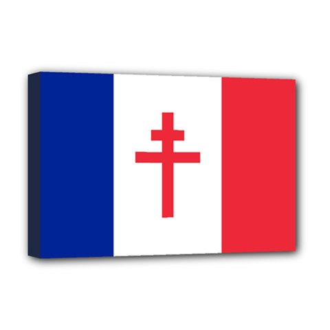Flag of Free France (1940-1944) Deluxe Canvas 18  x 12