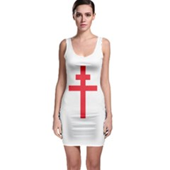 Flag Of Free France (1940 1944) Sleeveless Bodycon Dress