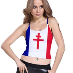 Flag Of Free France (1940 1944) Spaghetti Strap Bra Top
