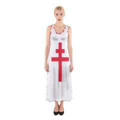 Flag of Free France (1940-1944) Sleeveless Maxi Dress