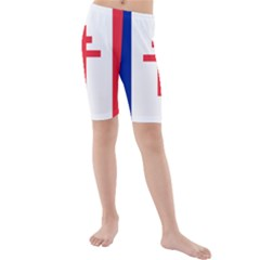 Flag Of Free France (1940 1944) Kids  Mid Length Swim Shorts