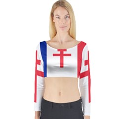 Flag Of Free France (1940 1944) Long Sleeve Crop Top