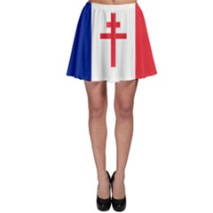 Flag Of Free France (1940 1944) Skater Skirt