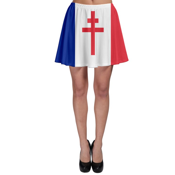 Flag of Free France (1940-1944) Skater Skirt