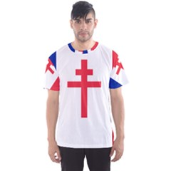 Flag Of Free France (1940 1944) Men s Sport Mesh Tee