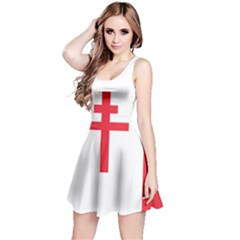 Flag Of Free France (1940 1944) Reversible Sleeveless Dress