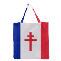 Flag Of Free France (1940 1944) Grocery Tote Bag
