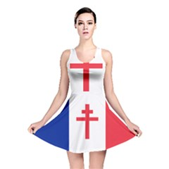 Flag Of Free France (1940 1944) Reversible Skater Dress