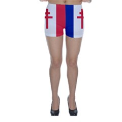 Flag Of Free France (1940 1944) Skinny Shorts