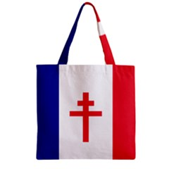 Flag Of Free France (1940 1944) Zipper Grocery Tote Bag