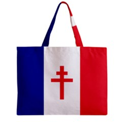 Flag Of Free France (1940 1944) Zipper Mini Tote Bag