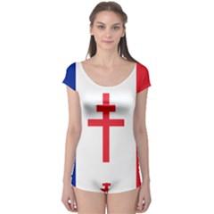 Flag of Free France (1940-1944) Boyleg Leotard