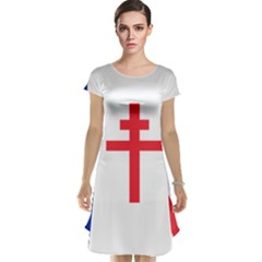 Flag Of Free France (1940 1944) Cap Sleeve Nightdress