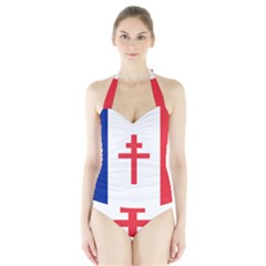 Flag of Free France (1940-1944) Halter Swimsuit