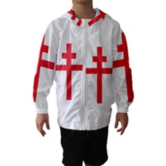 Flag Of Free France (1940 1944) Hooded Wind Breaker (kids)