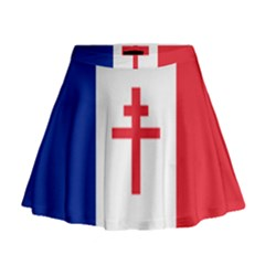 Flag Of Free France (1940 1944) Mini Flare Skirt