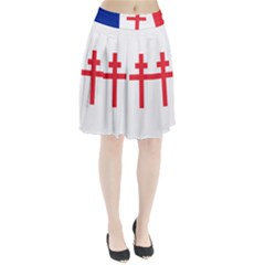 Flag Of Free France (1940 1944) Pleated Skirt