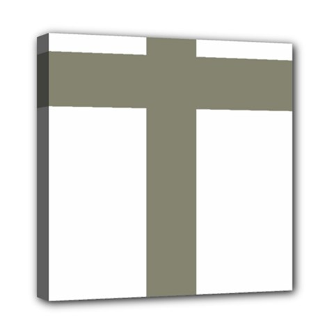 Cross Of Loraine Mini Canvas 8  X 8