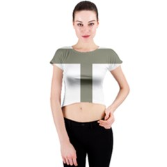 Cross Of Loraine Crew Neck Crop Top