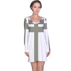 Cross Of Loraine Long Sleeve Nightdress