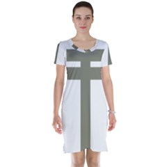 Cross Of Loraine Short Sleeve Nightdress