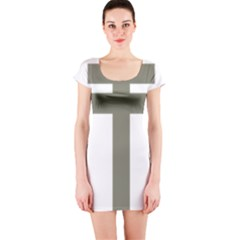 Cross Of Loraine Short Sleeve Bodycon Dress