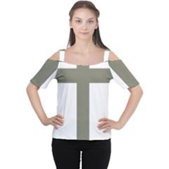 Cross Of Loraine Women s Cutout Shoulder Tee