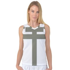 Cross Of Loraine Women s Basketball Tank Top