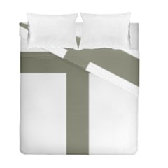 Cross Of Loraine Duvet Cover Double Side (full/ Double Size)