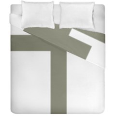 Cross of Loraine Duvet Cover Double Side (California King Size)