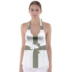 Cross Of Loraine Babydoll Tankini Top