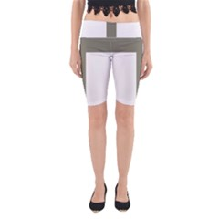 Cross Of Loraine Yoga Cropped Leggings