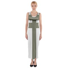 Cross Of Loraine Fitted Maxi Dress
