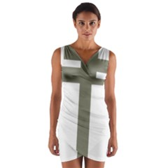 Cross Of Loraine Wrap Front Bodycon Dress