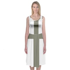 Cross Of Loraine Midi Sleeveless Dress