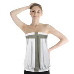 Cross Of Loraine Strapless Top