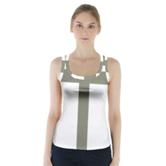 Cross Of Loraine Racer Back Sports Top