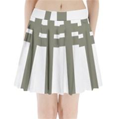 Cross Of Loraine Pleated Mini Skirt