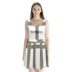 Cross Of Loraine Split Back Mini Dress