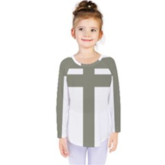 Cross Of Loraine Kids  Long Sleeve Tee